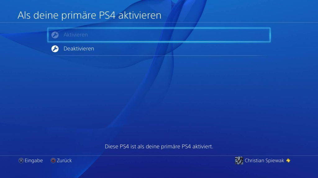 PS4 Account Sharing Bestigung